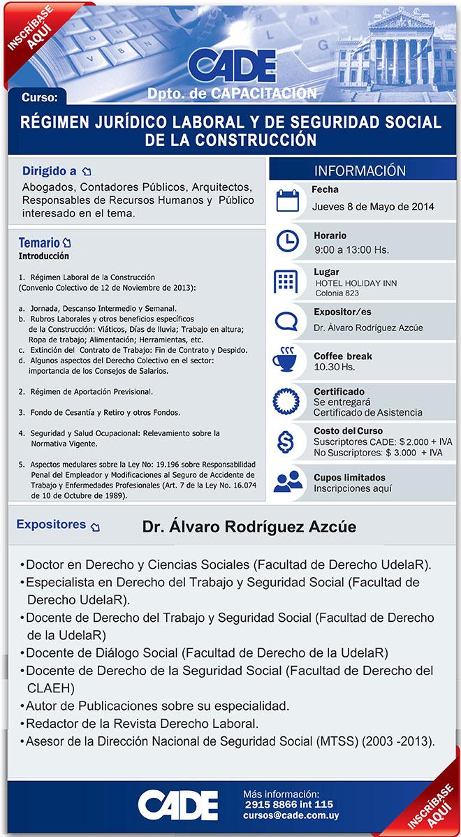 Régimen Jurídico Laboral y de Seguridad Social en la Construcción