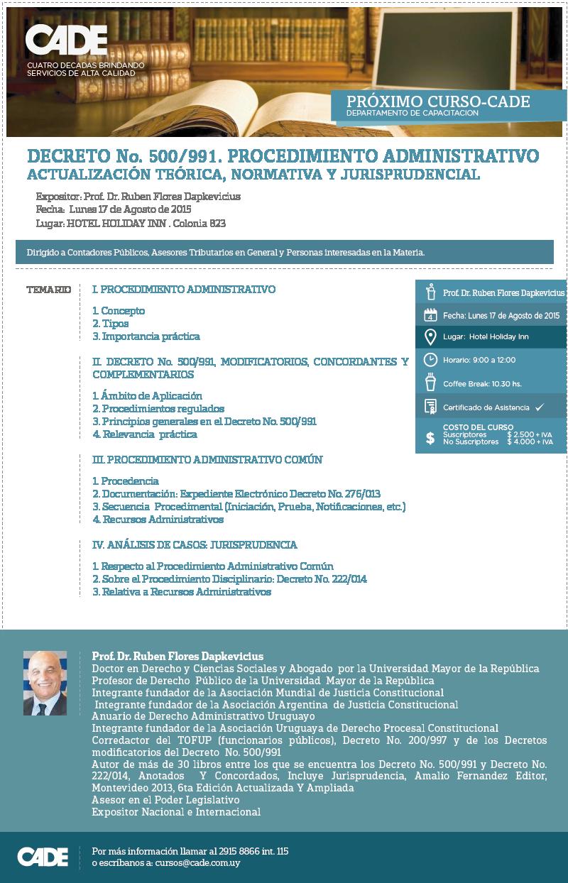 Decreto 500/991 Procedimiento Administrativo