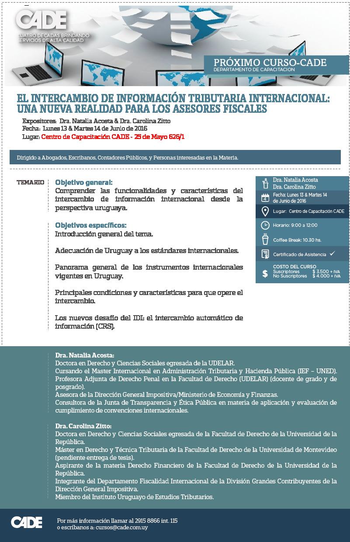 Intercambio de Información Tributaria Internacional. Una nueva realidad para los asesores fiscales